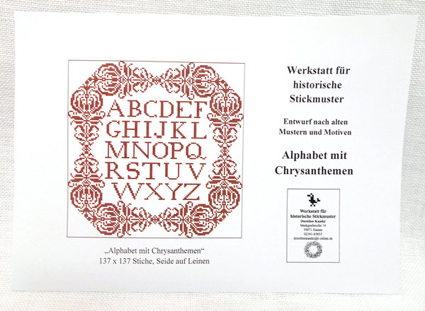 Alphabet mit Chrysanthemen